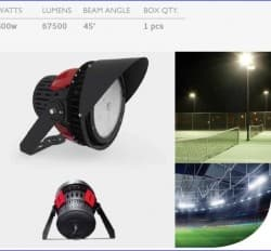 Proiector led stadion 500W
