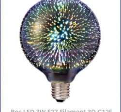 Bec ornamental 3D cu led Artificii